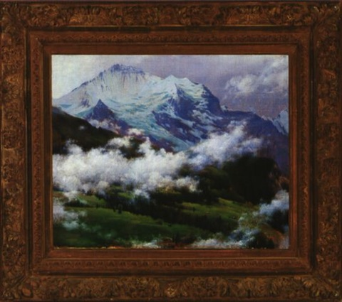 clouds over wengen by charles courtney curran
