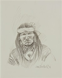 portrait of a native american by joe neil beeler