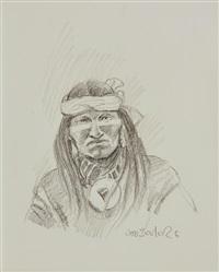 portrait of a native american by joe neil beeler