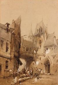 vue d'une rue médiévale by paul marny