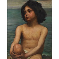 young boy by the sea by david comba adamson