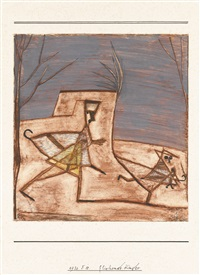 fliehende kinder (children fleeing) by paul klee