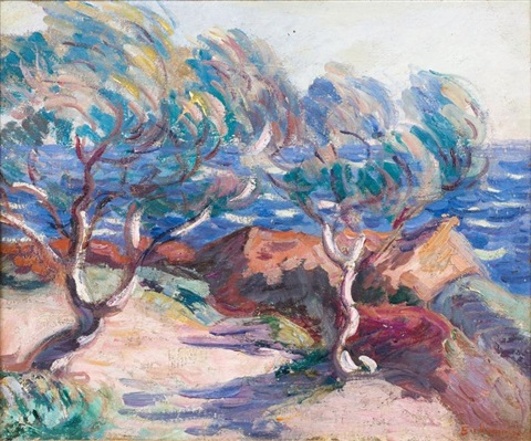 le trayas paysage du midi by armand guillaumin