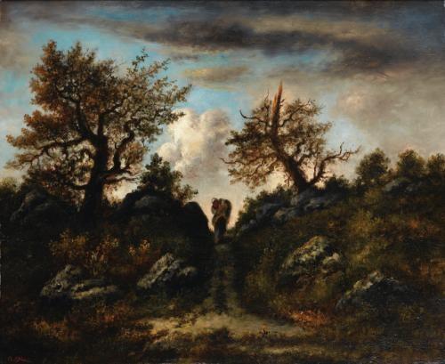 le sentier du jean de paris un soir dorage en forêt de fontainebleau by narcisse virgile diaz de la peña
