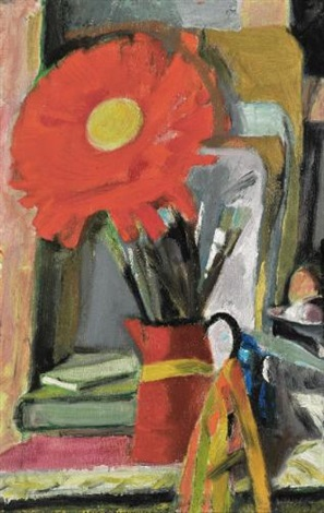 flower in a vase by panayiotis tetsis