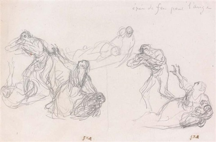 personnages scènes de terreur study by jean françois millet