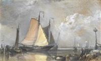 dutch fishing boats by edward william cooke