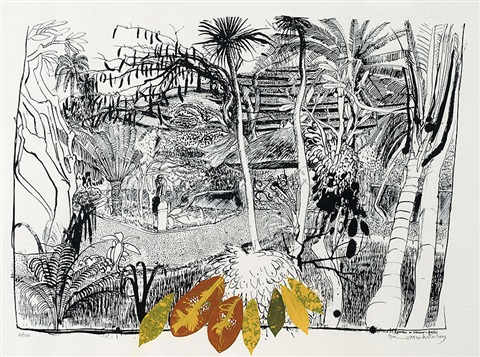 garden in sanur bali by brett whiteley