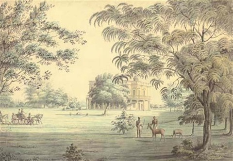 lady teignmouths garden house on the banks of the hooghly calcutta by hubert cornish