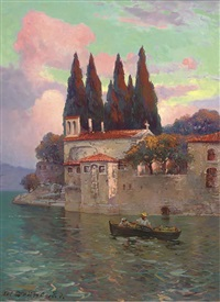 traders on lake garda by nel (nelius) grönland