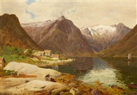 the sognefjord in norway by georg eduard otto saal
