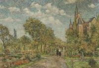 impressionistische stadtlandschaft by mathias barz