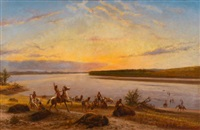 after the buffalo hunt by william de la montagne cary