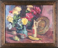 still life with roses by don ricks