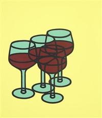 wine glasses by patrick caulfield
