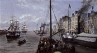 trouville, le départ des bateaux by antoinette asselineau
