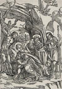 die madonna mit dem kinde, st. sebastian und zwei anderen heiligen by francisco denanto