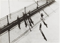 untitled (street view from the top with small people) by alexander rodchenko