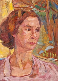 portrait of daphne porter by irene hoffar reid