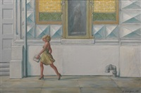 girl walking by clyde singer