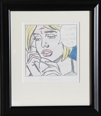 oh jeff, i love you, but by roy lichtenstein