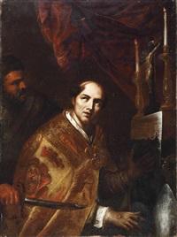 bildnis eines heiligen bischof by giovanni bernardino azzolini