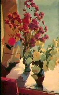 fleurs sur la table by mikhail akinchine