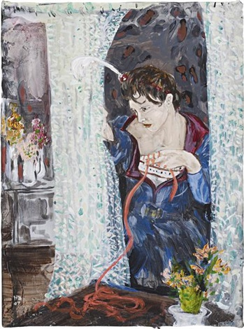 countess eavesdropping by hernan bas