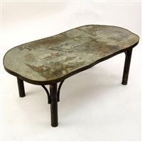 Good Chinoiserie Style Coffee Table, 1965. Philip And Kelvin Laverne