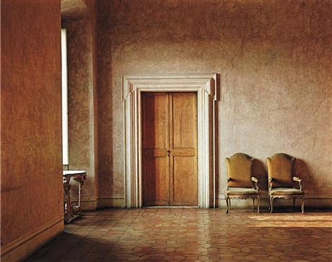 villa medici hall by evelyn hofer
