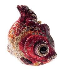 bolsa piexe vermelho by judith leiber