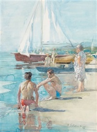 the bathers by burt silverman