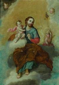 saint-joseph portant l'enfant jésus by miguel cabrera