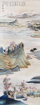 山水 by zhang daqian