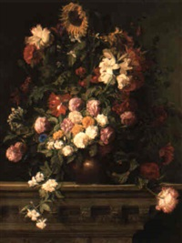 still life with flowers by heinrich aigner