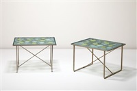 occasional tables (pair) by frances and michael higgins