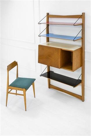Studio libreria con scrittoio e sedia by Drift on artnet