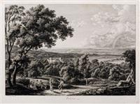 malerisch radirte prospecte aus italien (9 works) by johann christian reinhart