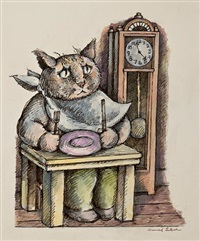 sakes alive! (illustration for whiskers & rhymes) by arnold lobel