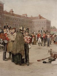 last minute goodbyes, ready for the march by william barnes wollen