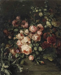 wild roses by margaretha roosenboom