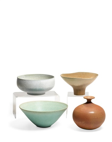 Assorted Group Of Eight Bowls And Vases By Laura Andreson On Artnet