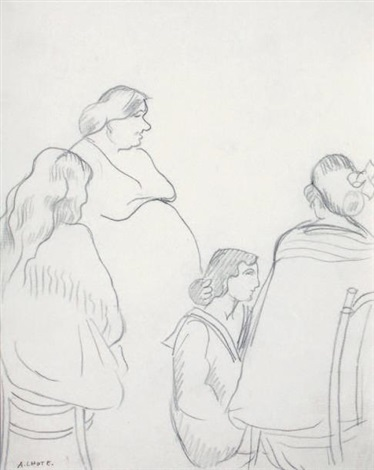 quatre femmes study for escales by andré lhote