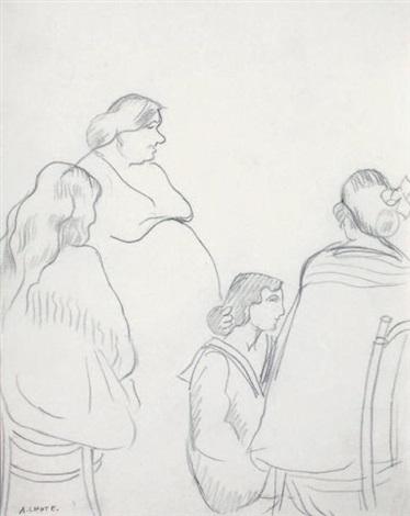 quatre femmes study for escales by andré lhote