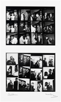 faber and faber party on 23 june, 1960 (24 works on 1 frame) by mark gerson