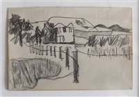 landscape with house by keith vaughan