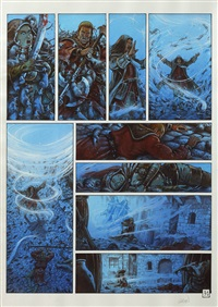 la conjuration d'opale, planche 22 (from album le serment) by grun