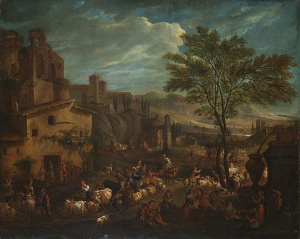 bambocciata by johannes lingelbach