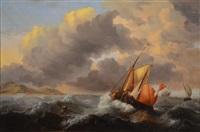 la tempête by johannes hermanus koekkoek