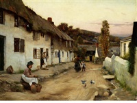 the village lane by william banks fortescue